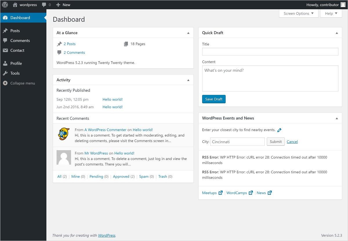 contributor user roles