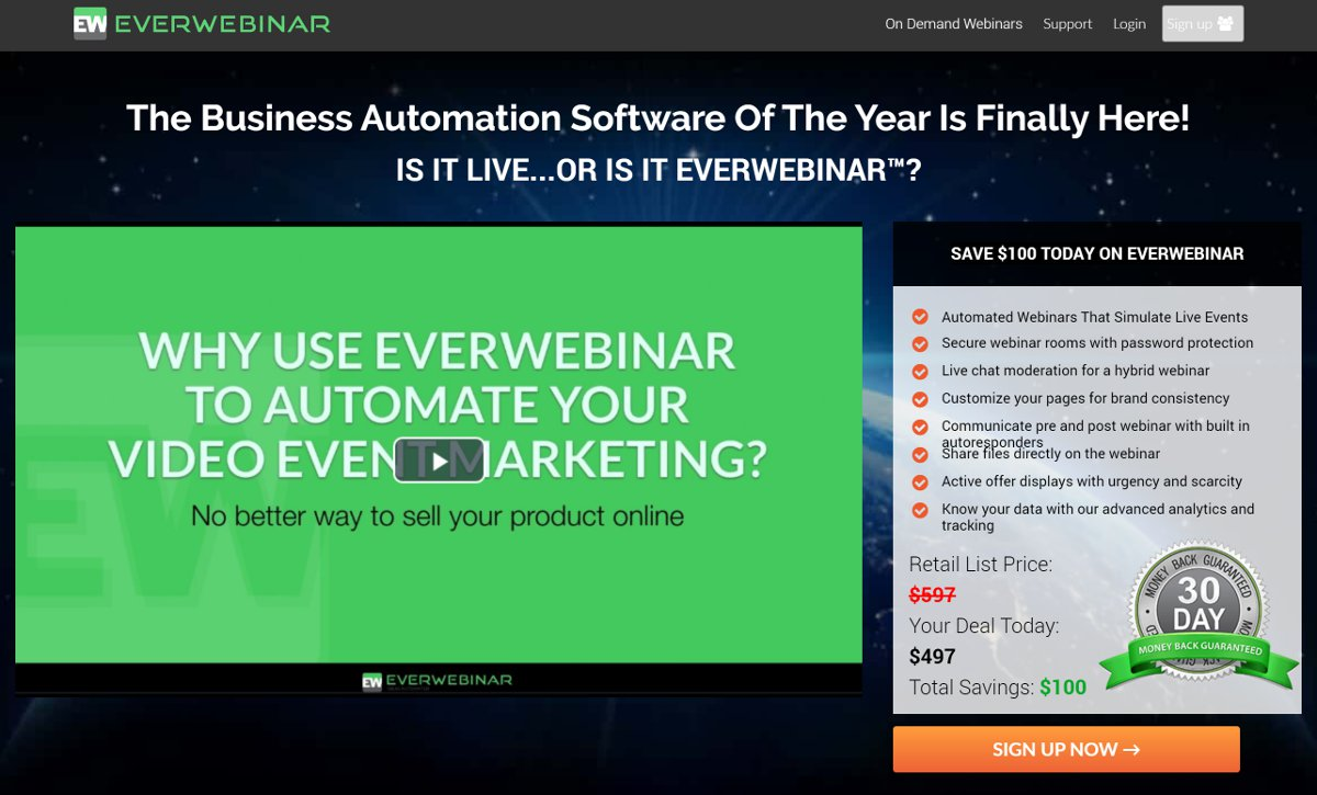 everwebinar popular webinar solution