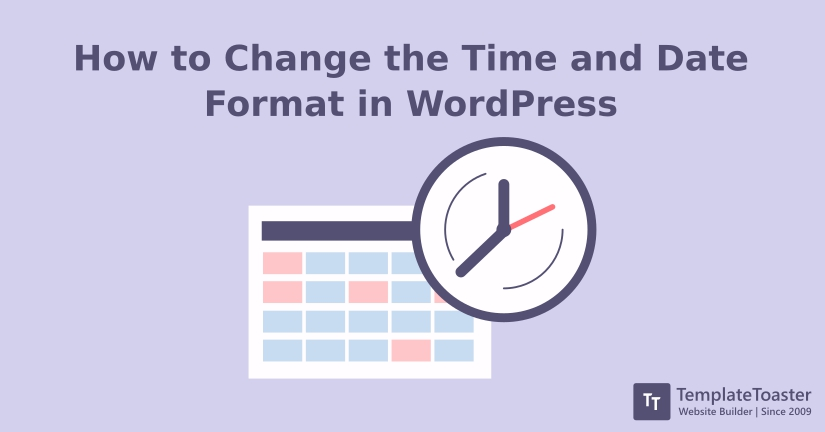 how to change the time and date format in wordpress