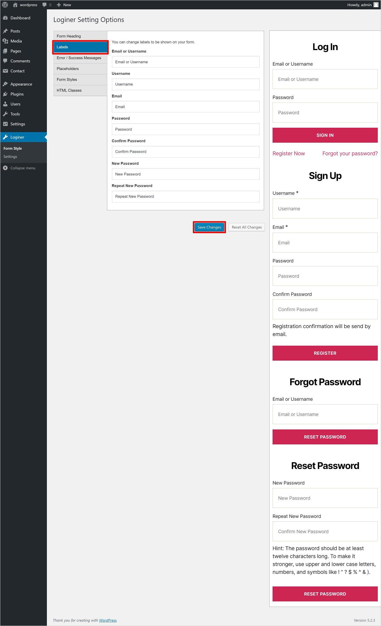 login page builder
