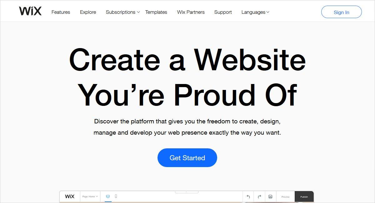 wix blog site