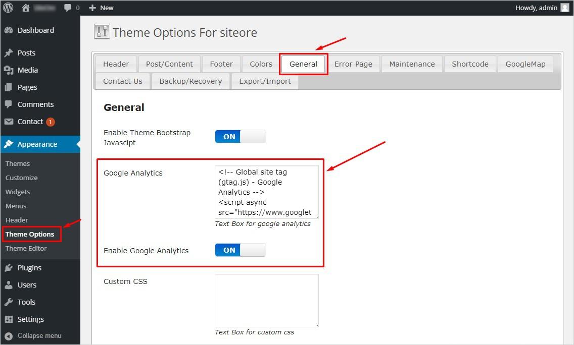 Add Google Analytics to WordPress With TemplateToaster