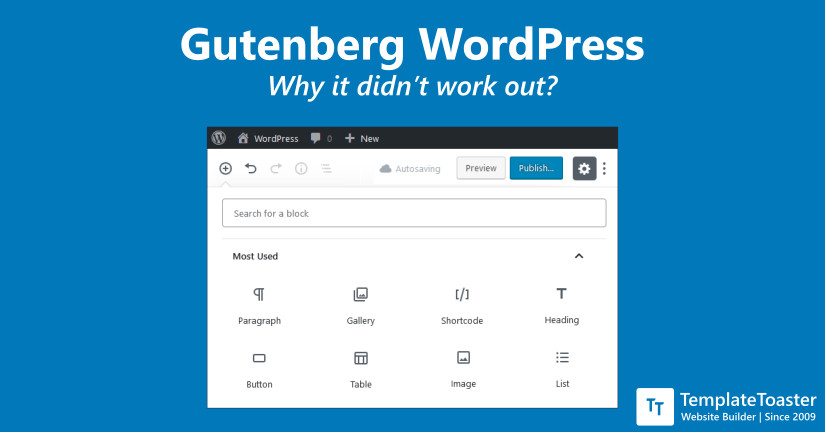 Gutenberg WordPress Why it didn't work out
