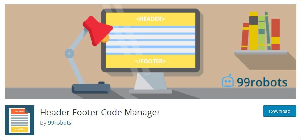 Header Footer Code Manager wordpress header plugin