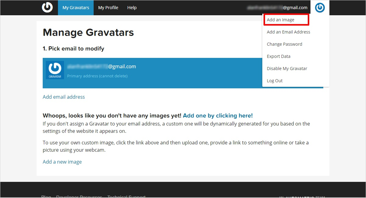 add your image to gravatar