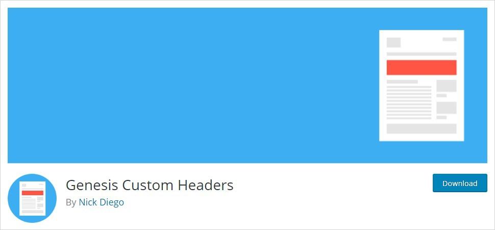 genesis custom header wordpress header plugin