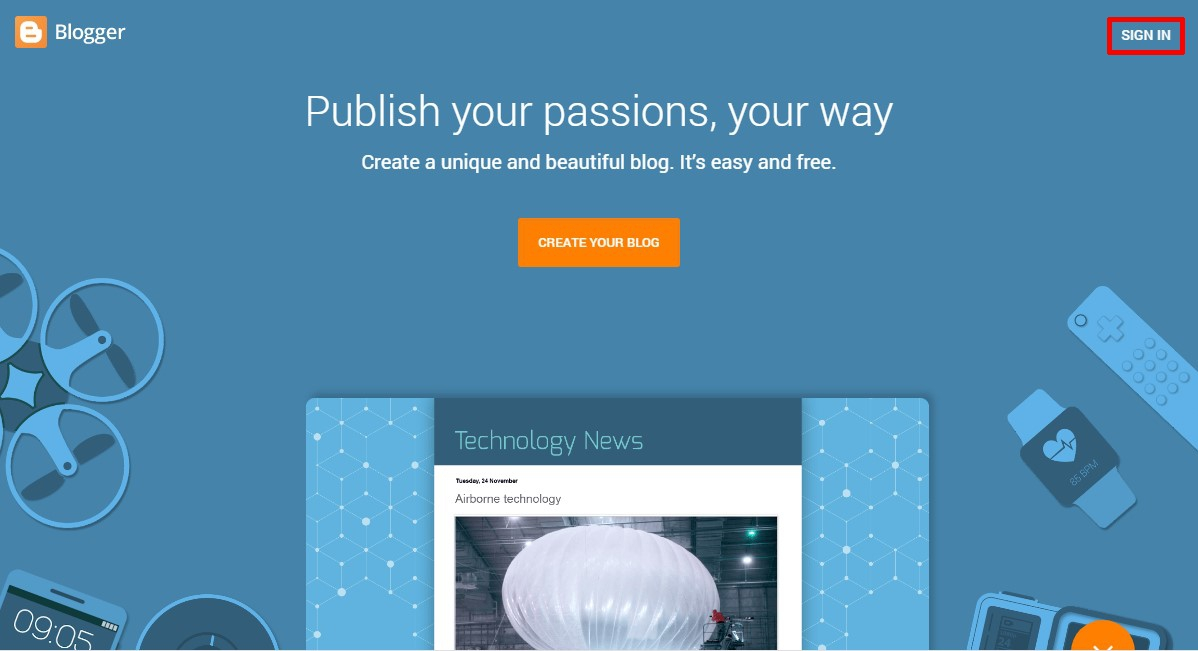 sign in to Install a Blogger Template