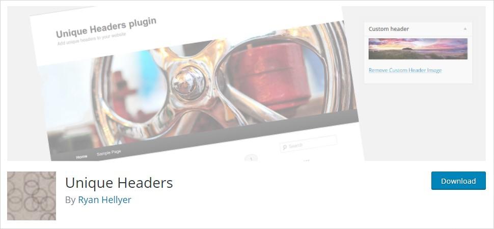 unique headers wordpress header plugin