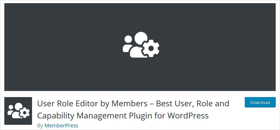 user role editor by members