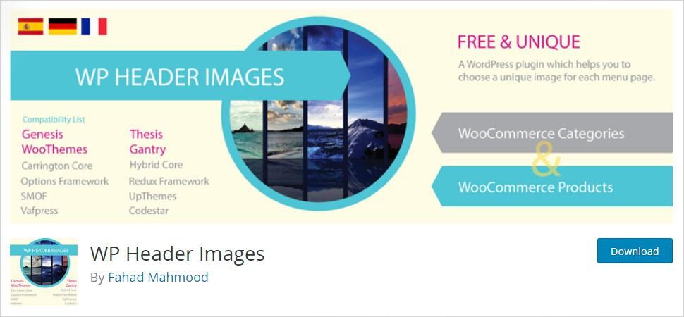wp header images wordpress header plugin