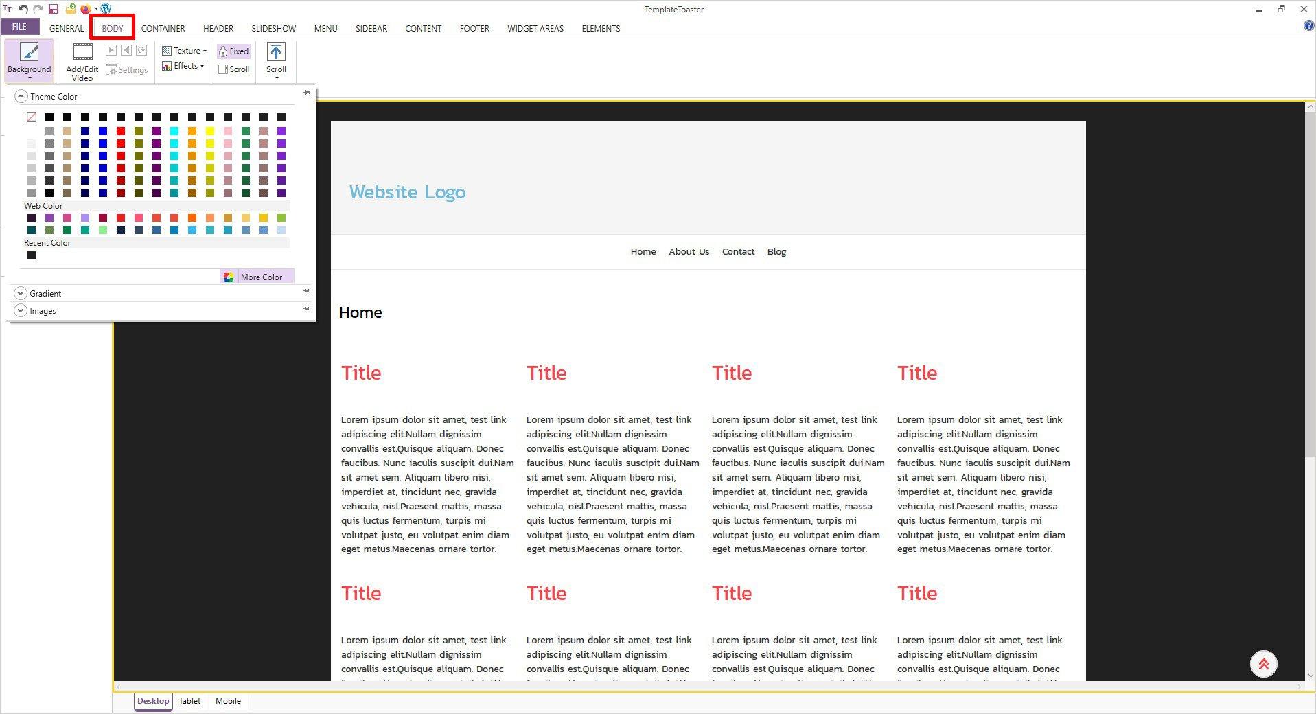 create music website step by step