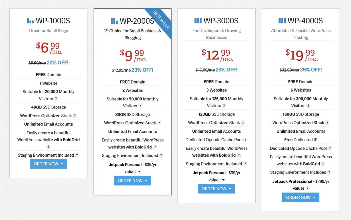 inmotion hosting pricing