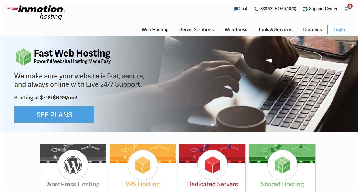 inmotion wordpress hosting providers