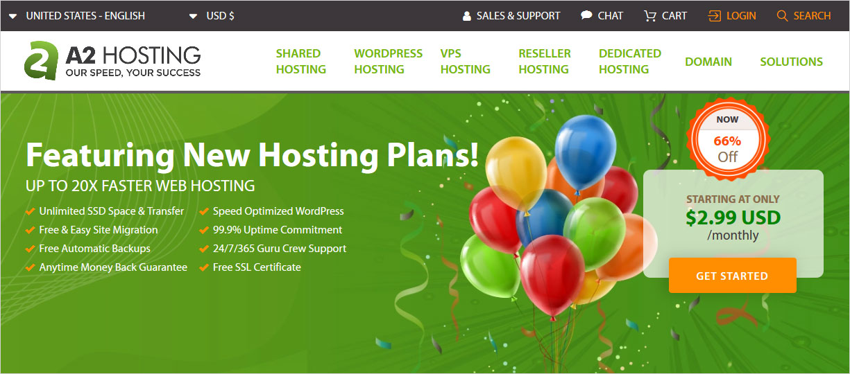 A2 Hosting vs SiteGround web hosting