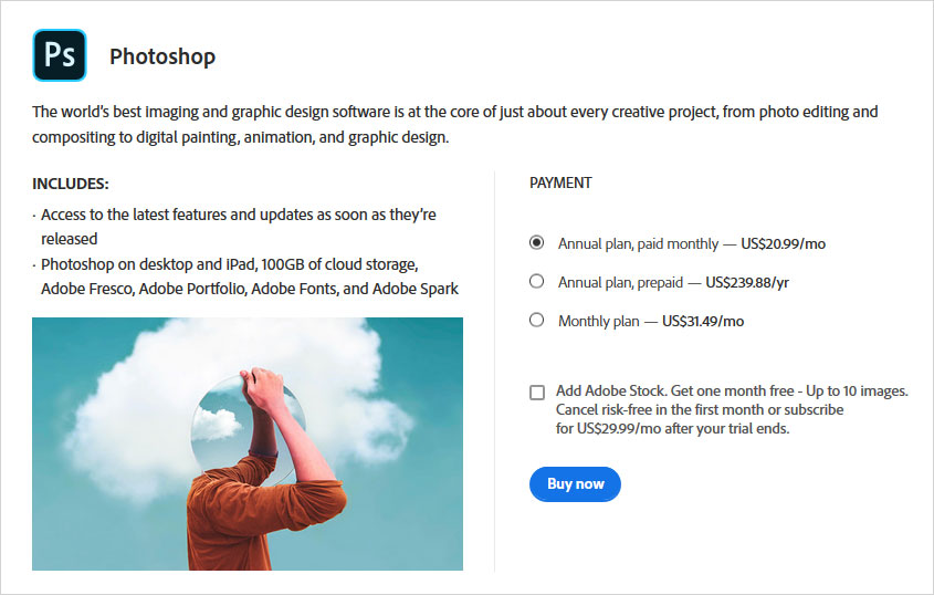 adobe photoshop pricing