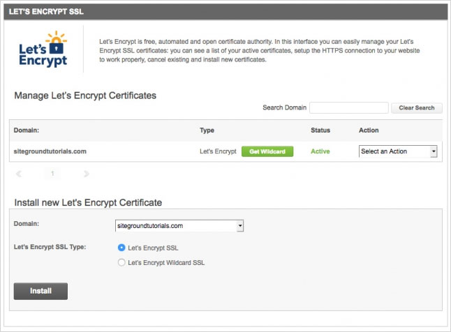 siteground free ssl certificate