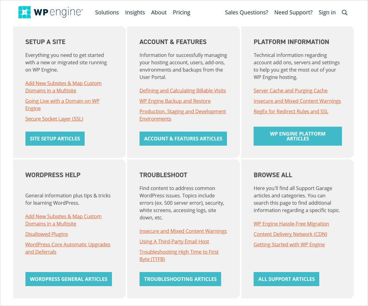 customer support WP Engine vs Bluehost