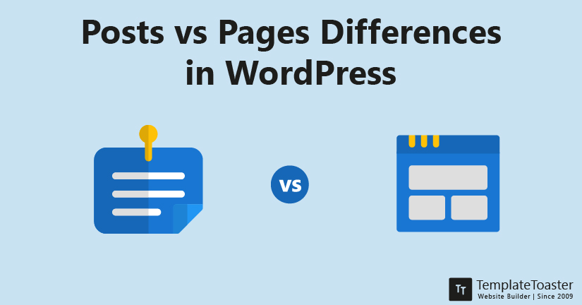 Posts vs Pages differences in WordPress
