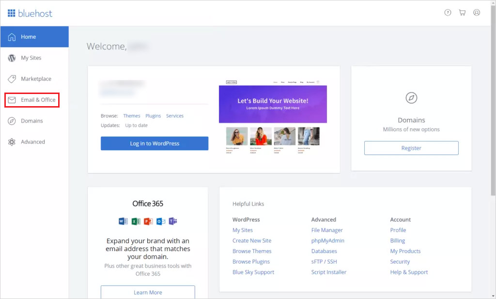 access email domain