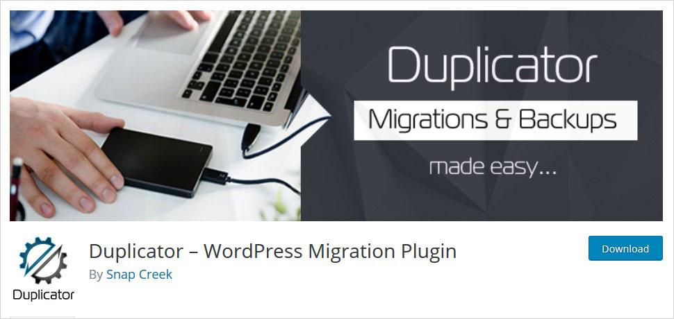duplicator migration wordpress plugins