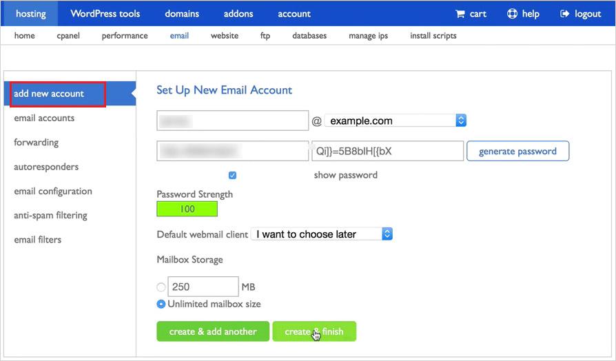 set email address