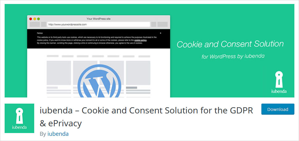 iubenda cookie and consent solution for the gdpr
