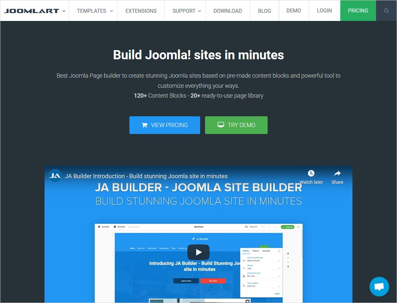 joomlart joomla page builder