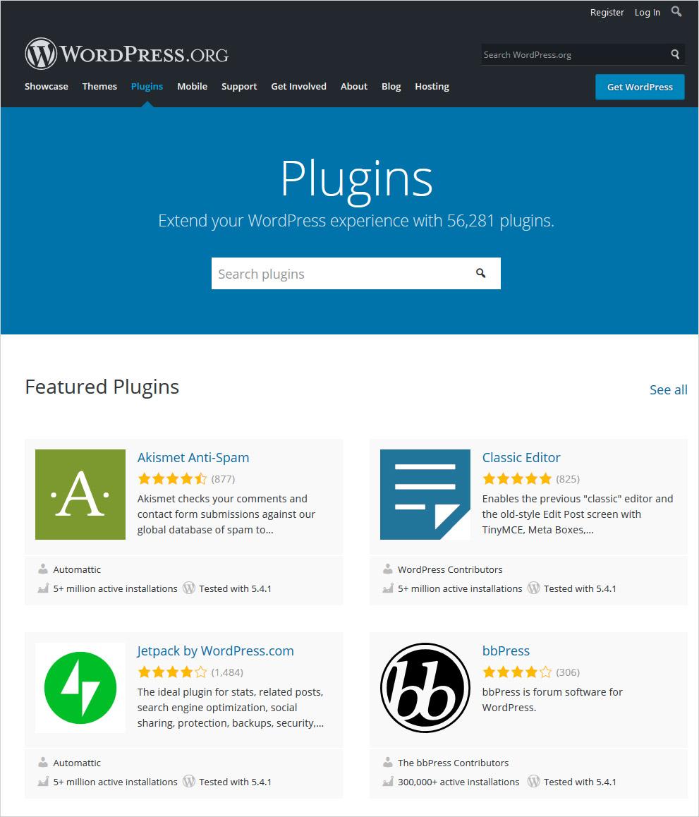 wordpress vs html plugins