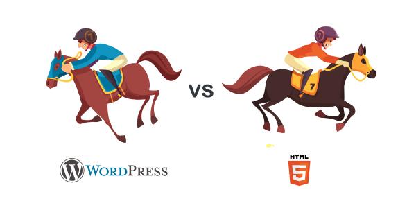 wordpress vs html differences