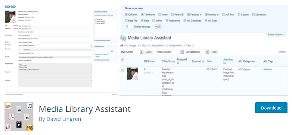 Media Library Assistant