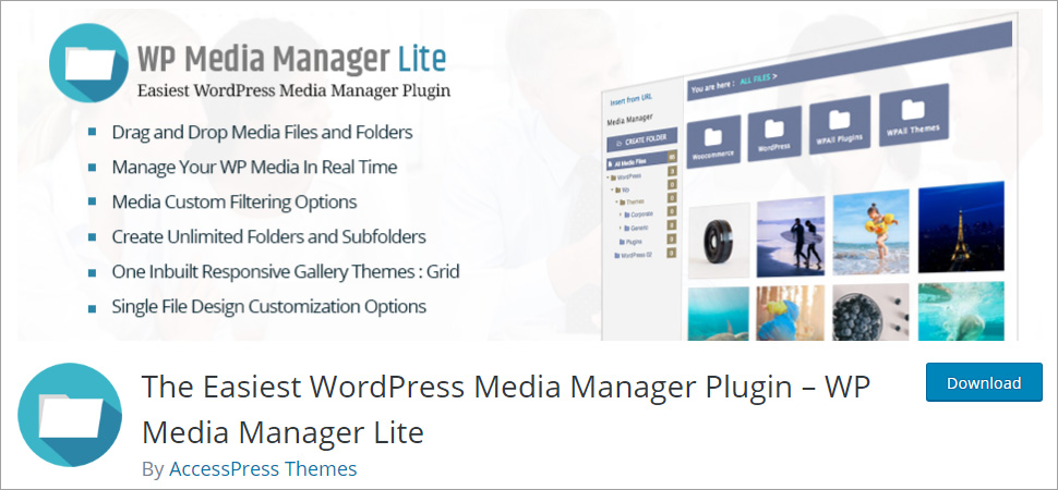 The Easiest WordPress Media Manager Plugin WP Media Manager Lite