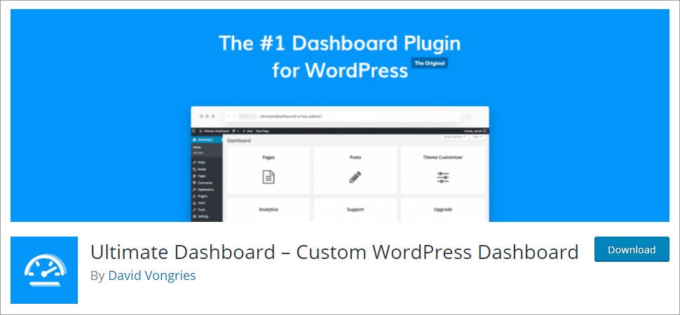 Ultimate Dashboard Custom WordPress Dashboard