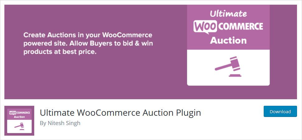 ultimate woocommerce auction plugin