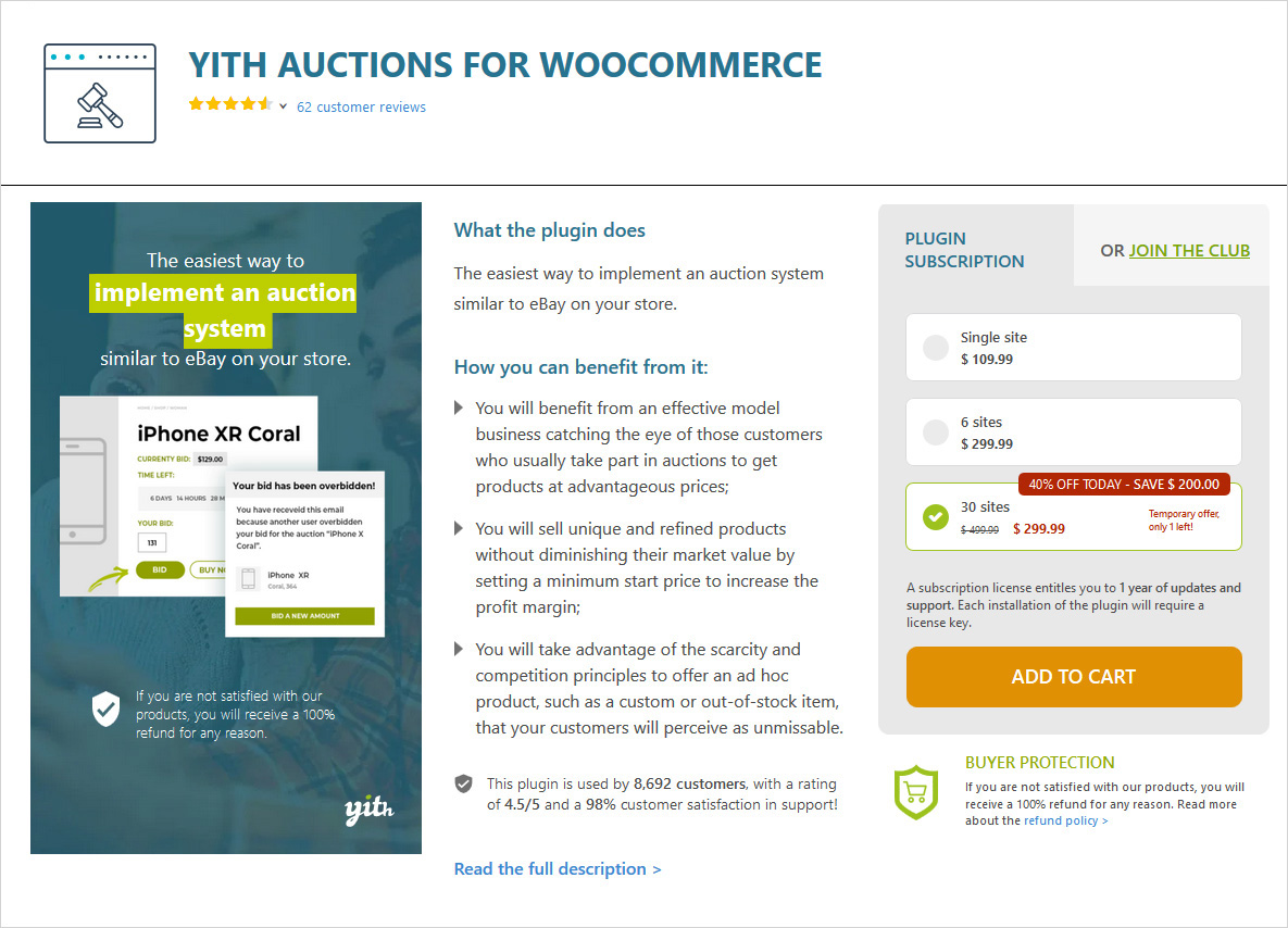 yith auctions for woocommerce