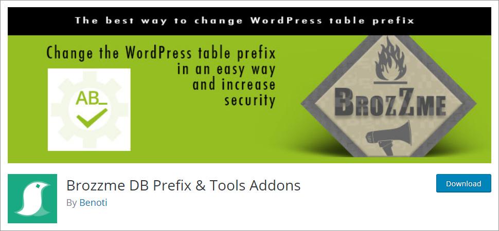 Brozzme DB Prefix & Tools Addons
