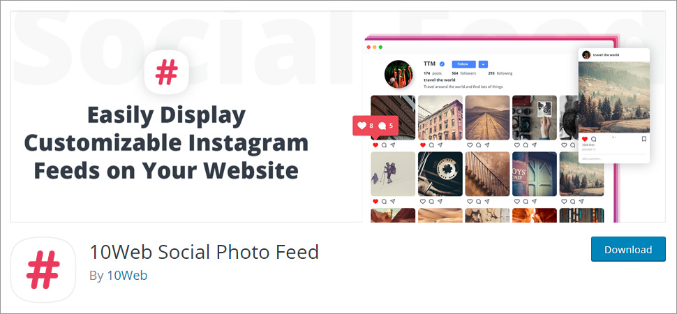 10Web Social Photo Feed