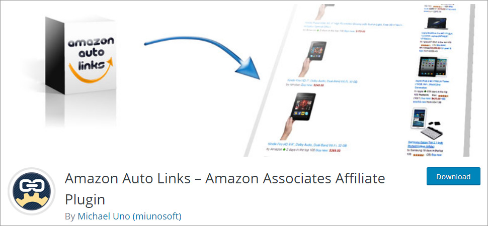 Amazon Auto Links Amazon Associates Affiliate Plugin