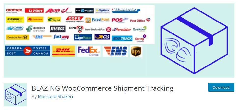 BLAZING WooCommerce Shipment Tracking