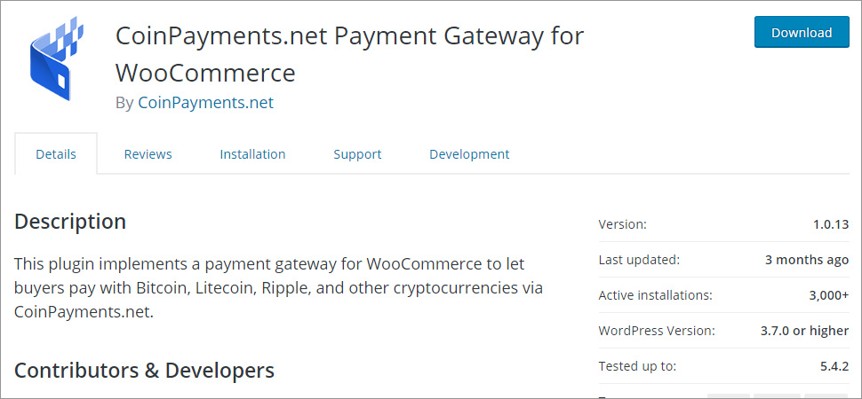 CoinPayments net Payment Gateway for WooCommerce