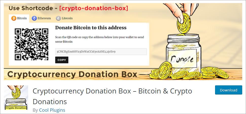 Cryptocurrency Donation Box Bitcoin & Crypto Donations