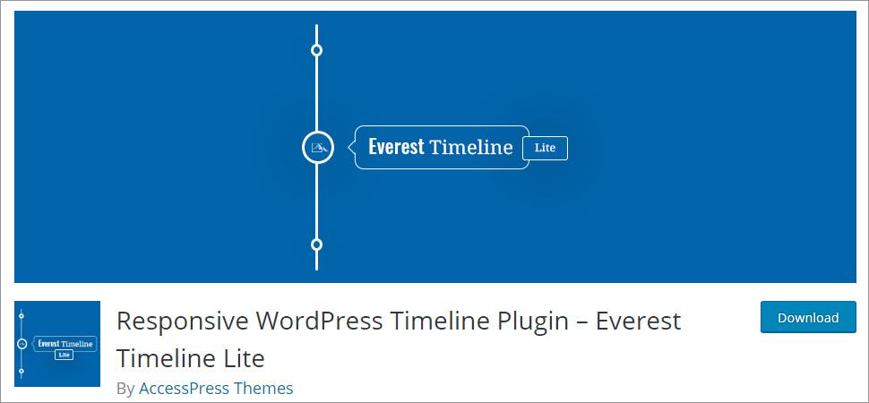 Responsive WordPress Timeline Plugin Everest Timeline Lite