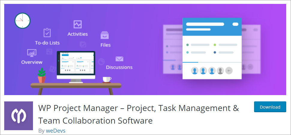 WP Project Manager Project Task Management & Team Collaboration Software