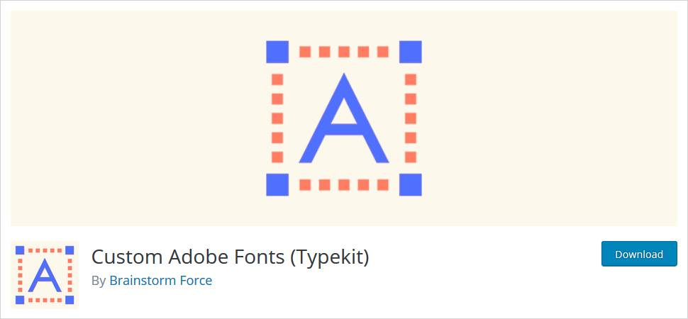 custom adobe fonts wordpress plugin