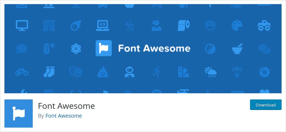 font awesome wordpress plugin