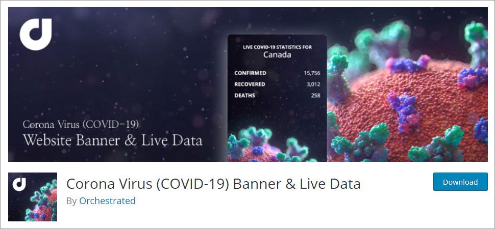 Coronavirus (COVID-19) Stats Plugins Live Data