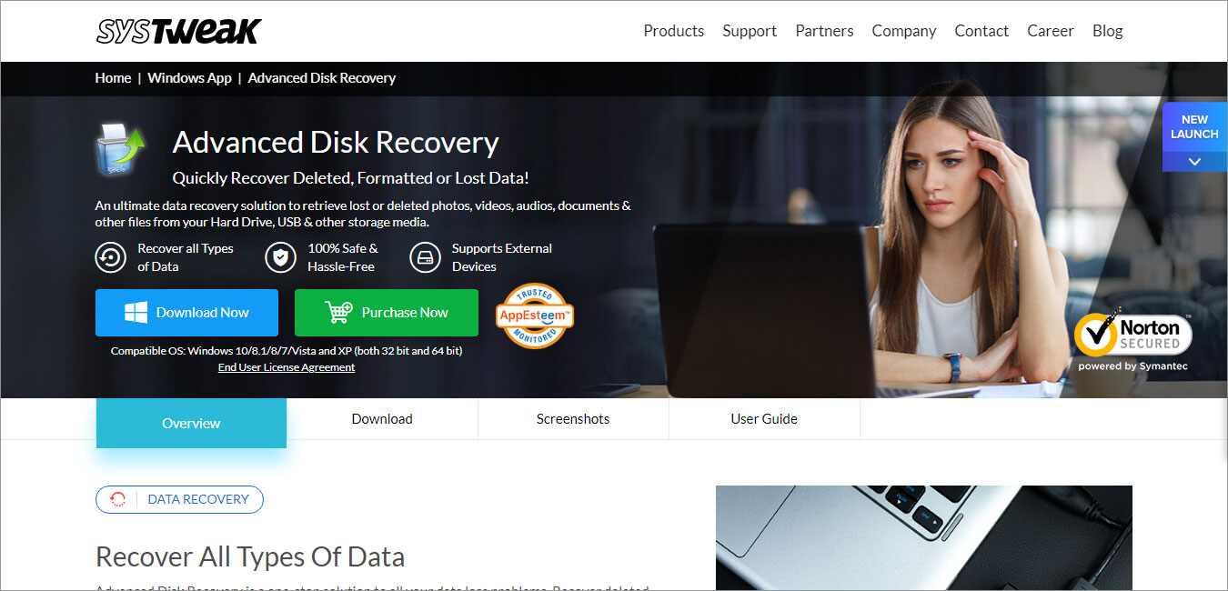 SysTweak Data Recovery Tool to Restore Deleted Files