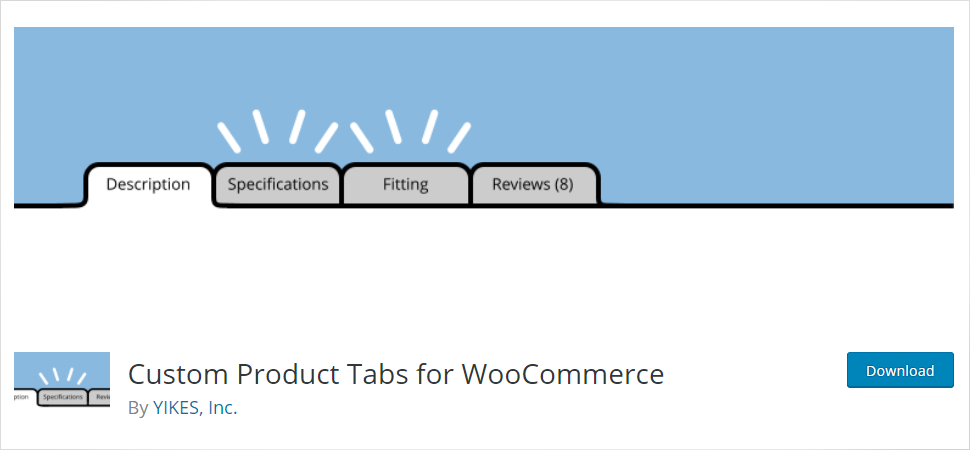 Custom Products tabs For Woocommerce