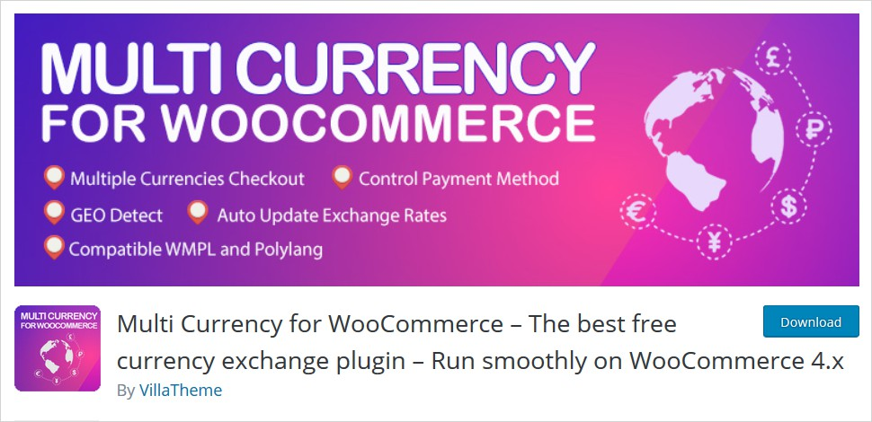 multi currency plugin for woocommerce