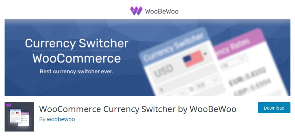 woocommerce currency switcher by woobewoo