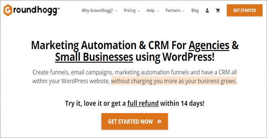 best WooCommerce CRMs Roundhogg